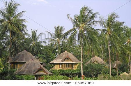 thai style bungalows thailand