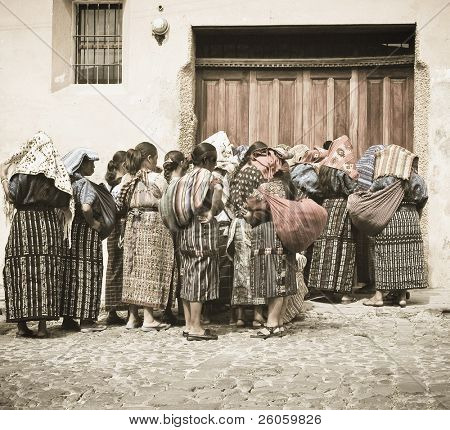 mayan women antigua(old photo )