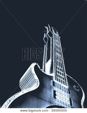 big blue guitar