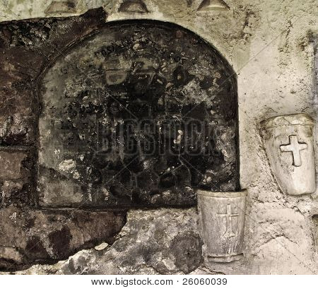 old gravestone granada nicaragua