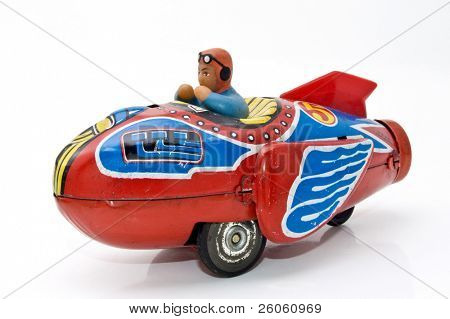 old retro rocket racer ( 1960s )
