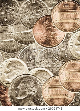 money coins background