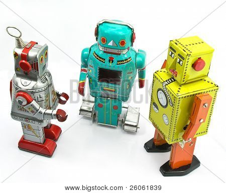 three retro toys