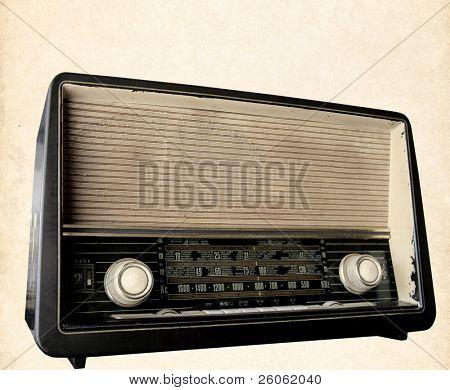 retro radio background