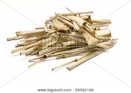 lemon grass isolated on white