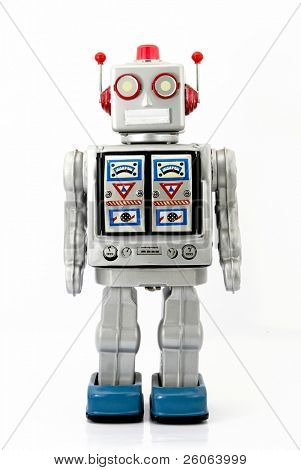 large retro robot toy