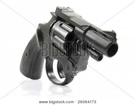 black plastic toy gun