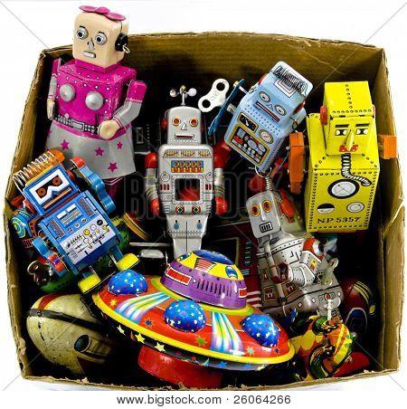 juguetes antiguos de hojalata