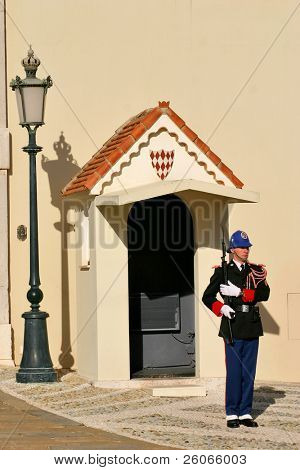 Monaco, Monte Carlo: Royal prince guards