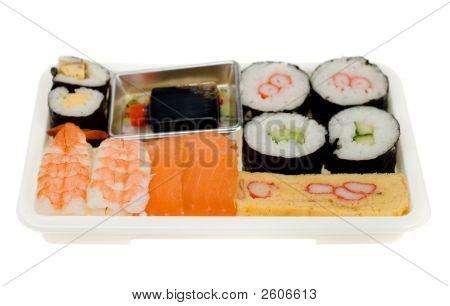 Plastic Box Of Sushi