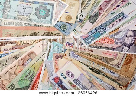 International Finance: currencies from around the world