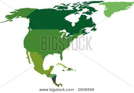 North And Central America - Vector