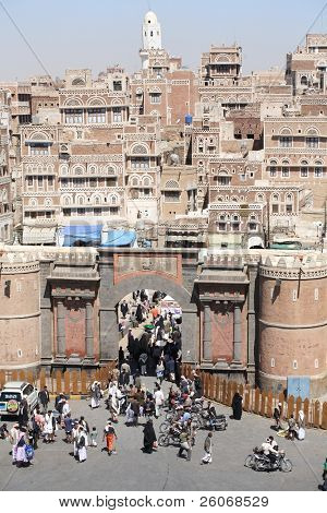 Bab al Yemen, Sana'a  - the main gate to the old city