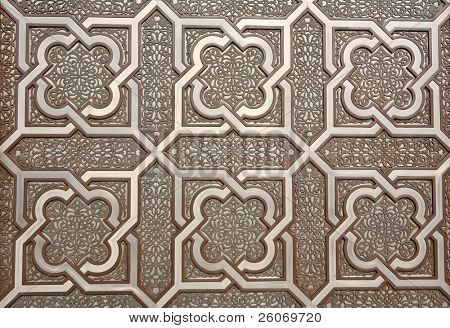 Door details of Hassan II Mosque in Casablanca, Morocco