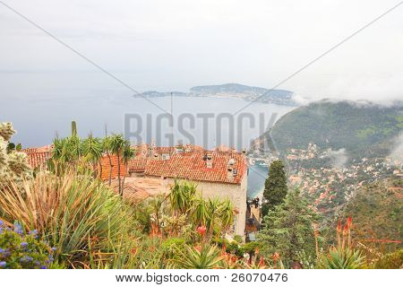 Rooftops of Eze village, French Riviera