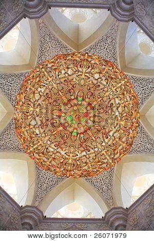 Decoration of Sheikh Zayed Mosque. Abu Dhabi, United Arab Emirates