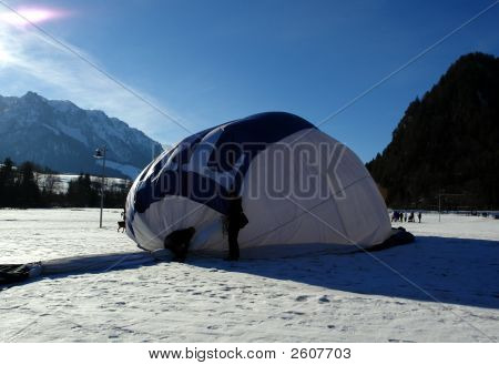 Balloon On A Snow