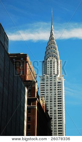 NEW YORK CITY, NY - NOV 11: The Chrysler Building is an Art Deco skyscraper and was the world's tallest building for 11 months. November 11, 2010 in Manhattan, New York City.