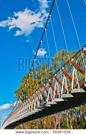 Suspension Bridge A Dramatic View