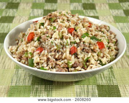 Bol de arroz sucio