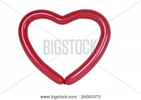 Balloon shaped like hart