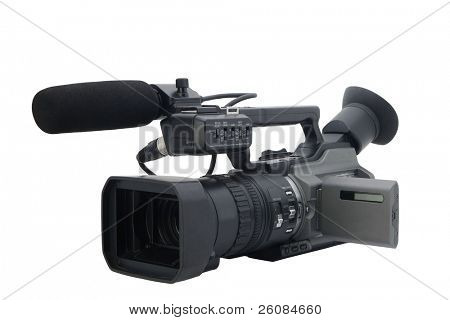 camcorder isolated on white