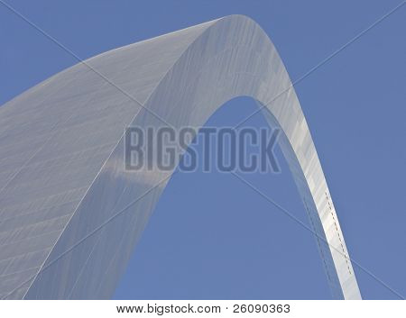Abstract view of the St. Louis Arch - Gateway to the West