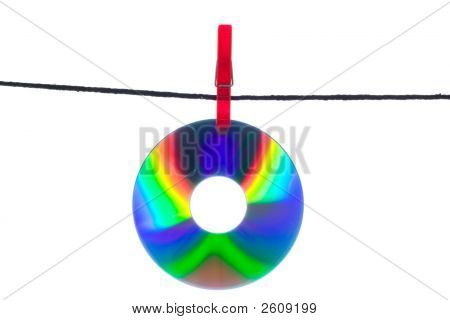 Cd On Clothes Line
