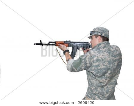 Soldier With Ak-74S