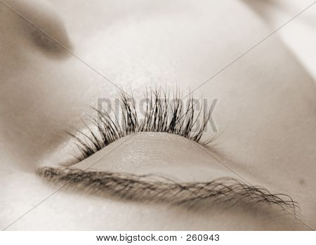 Woman  With Closed Eye