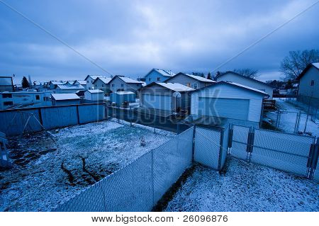 Urban Housing In Winter