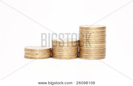 Rouleau Of Metallic Yellow Coins