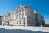 The Royal Palace. Palacio de Oriente, Madrid landmark, Spain. poster