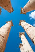 image of artemis  - Pillars Temple of Artemis in Jerash - JPG