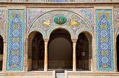 stock photo of tehran  - Beautyful mosaic arc of Golestan  palace - JPG
