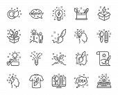 Creativity Line Icons. Set Of Design, Idea And Inspiration Linear Icons. Imagination, Idea Box And C poster