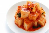radish kimchi , korean food , korean barbecue side dish