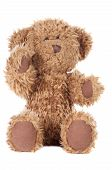 stock photo of stuffed animals  - A teddy bear a over white background - JPG