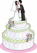 Постер, плакат: Свадебный торт