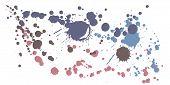 Graffiti Spray Stains Grunge Background Vector. Colorful Ink Splatter, Spray Blots, Dirty Spot Eleme poster
