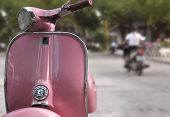 stock photo of sidecar  - pink scooter thailand - JPG