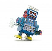 stock photo of tin man  - old robot toy - JPG