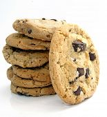 stock photo of chocolate-chip  - big cookies - JPG
