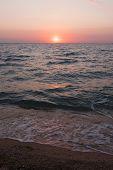 Sunrise. Morning Sky At Sunrise. Sea At Sunrise. Morning Breeze On The Ocean. poster