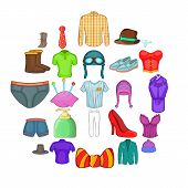 Shorts Icons Set. Cartoon Set Of 25 Shorts Vector Icons For Web Isolated On White Background poster