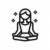 Meditation Icon Isolated On White Background. Meditation Icon In Trendy Design Style. Meditation Vec poster