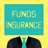 Text Sign Showing Funds Insurance. Conceptual Photo Form Of Collective Investment Offered An Assuran poster
