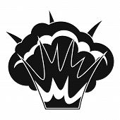 Projectile Explosion Icon. Simple Illustration Of Projectile Explosion Icon For Web poster