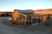 stock photo of chicken-wire  - Chicken coop on a new mexico ranch - JPG