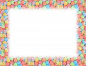 stock photo of valentine candy  - Candy heart border - JPG